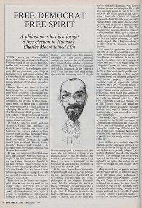 FREE DEMOCRAT FREE SPIRIT » 16 Dec 1989 » The Spectator Archive