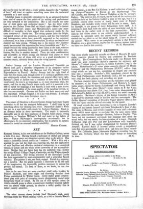 RECENT RECORDS » 18 Mar 1949 » The Spectator Archive