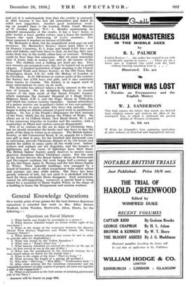 General Knowledge Questions   » 20 Dec 1930 » The Spectator
