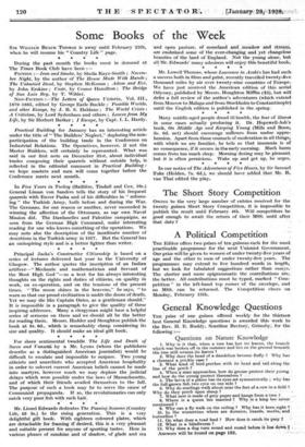 General Knowledge Questions » 28 Jan 1928 » The Spectator